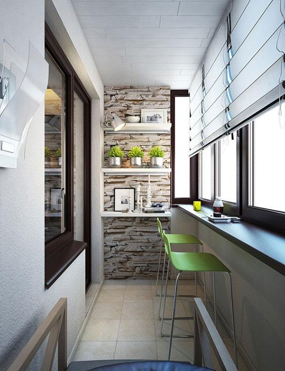 Красивые коричные окна и балконный блок