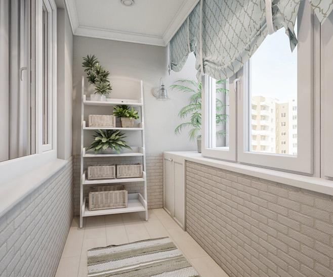 Белые и теплые окна Брусбокс на утепленный балкон